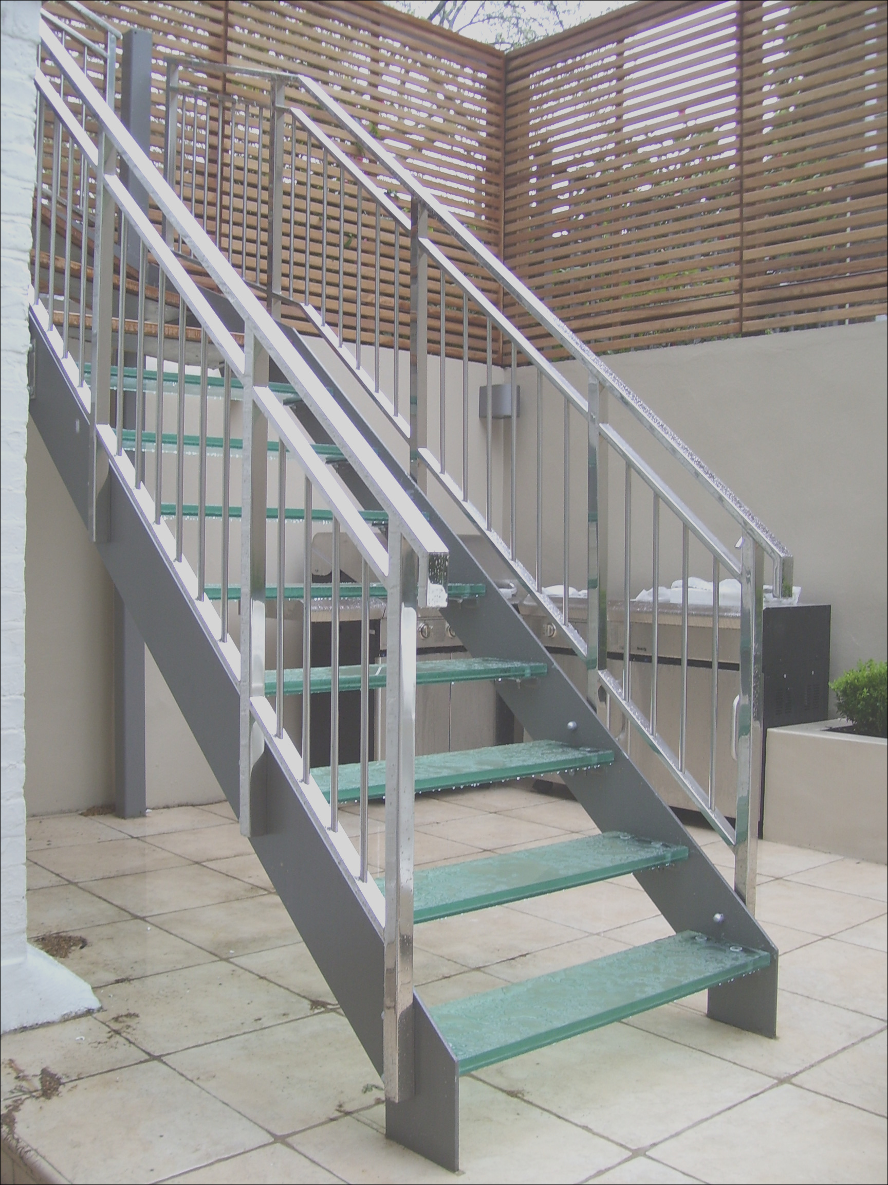 metal outdoor stairs
