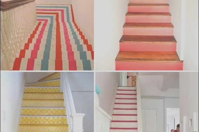 14 Exotic Stairs Design Painting Stock