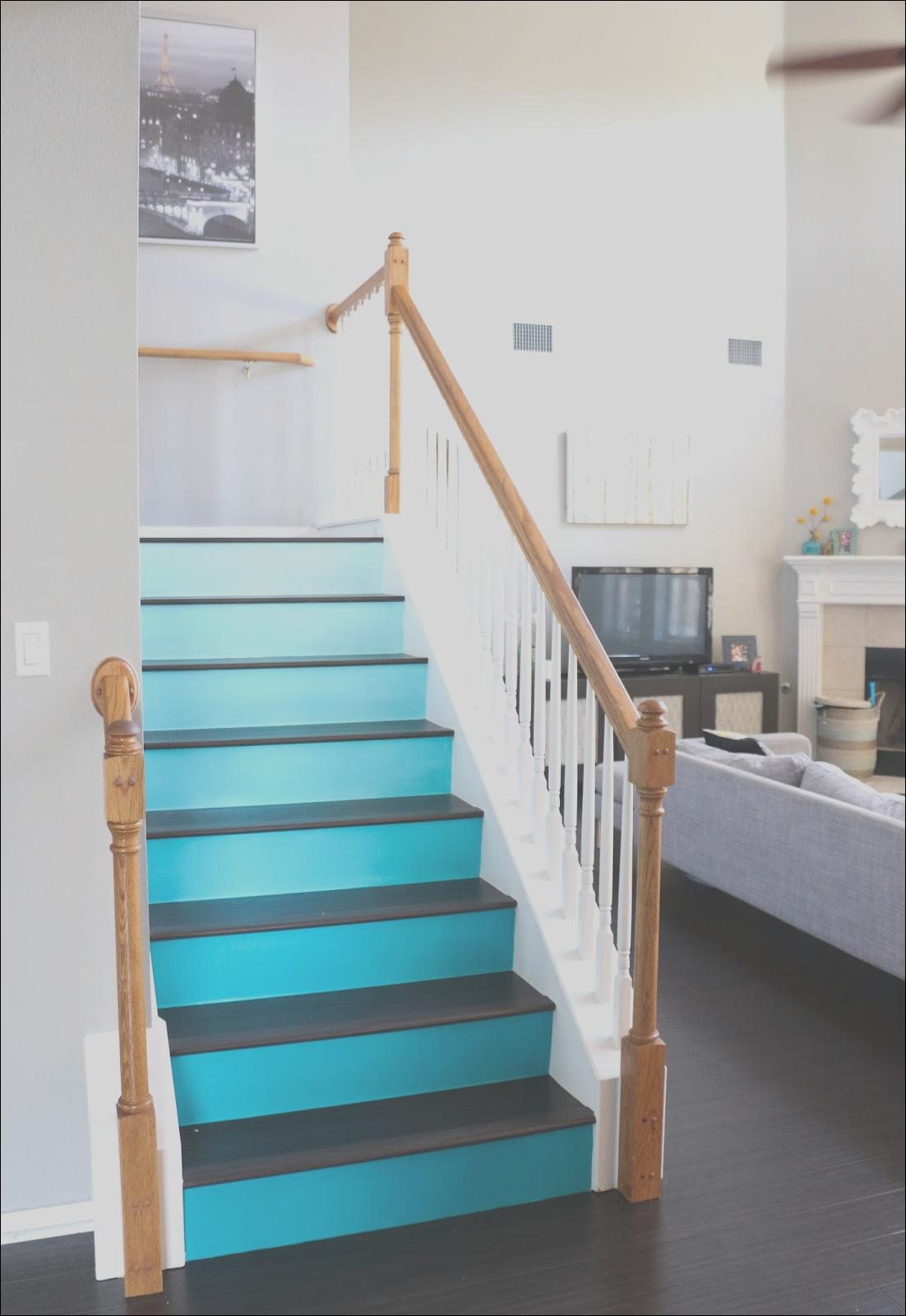paint it ombre stairs