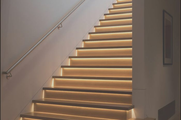10 Limited Stairs Design with Lights Photos
