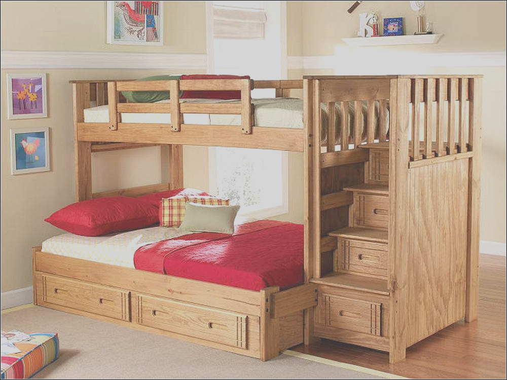 full over queen bunk bed with stairs white