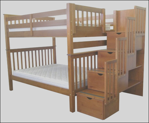 queen over queen bunk bed with trundle and stairs
