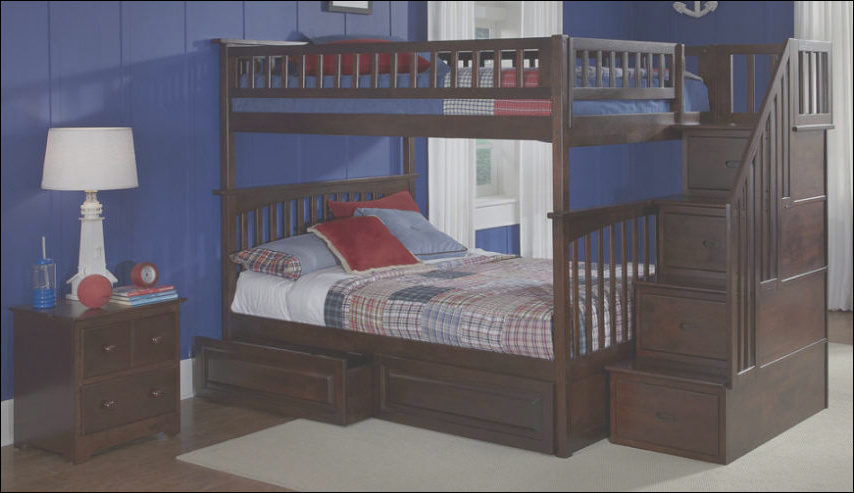 queen loft bed with stairs