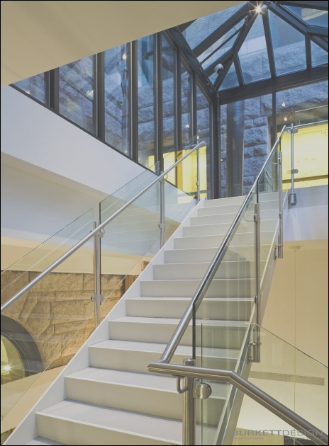 amazing glass roof over stairs picture 2
