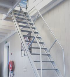 Stairs to Roof Hatch Luxury Roof Hatch with Fixed Staircase – Stylish Access to the Roof