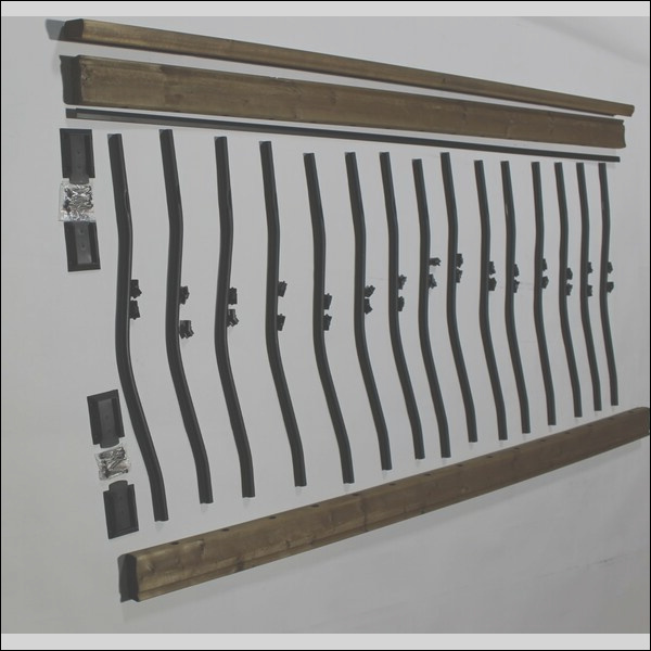 vista railing systems inc 3 ft h x 6 ft w tuscany wood stair railing kit bwct1055