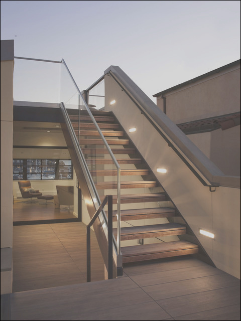 stairs to upper roof deck modern patio san francisco