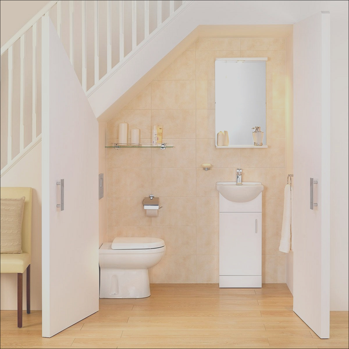 20 incredible bathroom design under stairs for unique bathroom inspiration