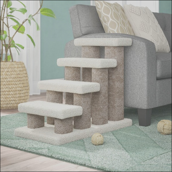 archie oscar florine deluxe doggie 4 step pet stair aosc1595