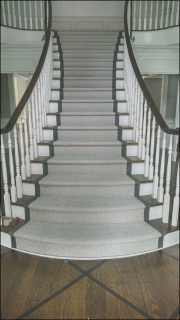 Carpet Runners on Wood Stairs traditional staircase new york