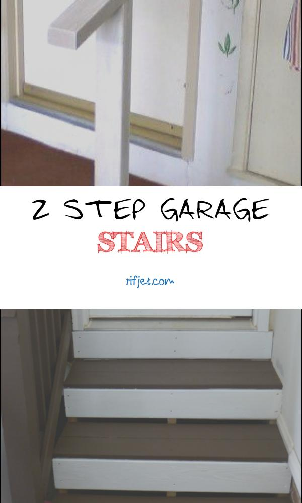 2 Step Garage Stairs New Handrail for Garage Steps for the Home