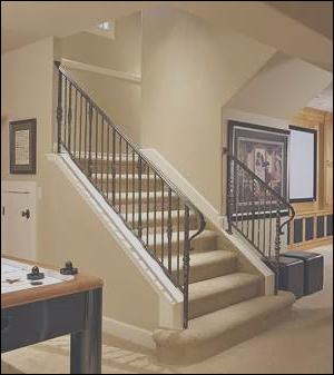 basement stairs designs