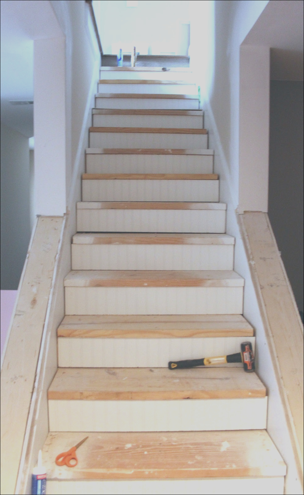 ugly basement stairs update