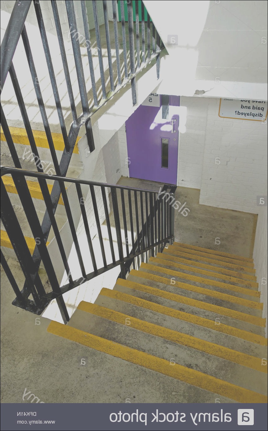 stock photo a stairwell in a multi storey car park