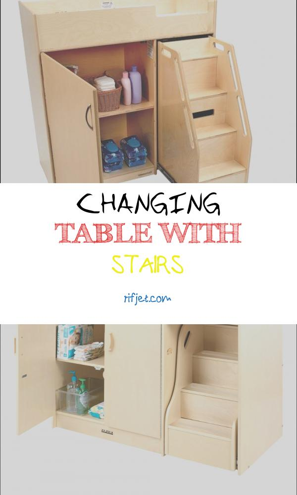 Changing Table with Stairs Fresh Environments toddler Changing Table with Stairs
