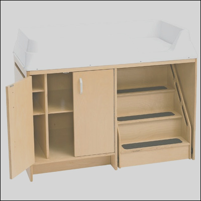 ael7550 changing table with locking stairs