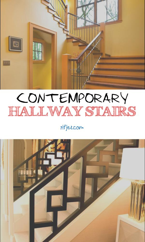 Contemporary Hallway Stairs Luxury Entrances Hallways & Stairs Contemporary Staircase