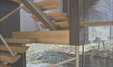 Contemporary Wood and Metal Stairs Beautiful Modern Wood & Metal Stairs Rural Retreat In Bantam