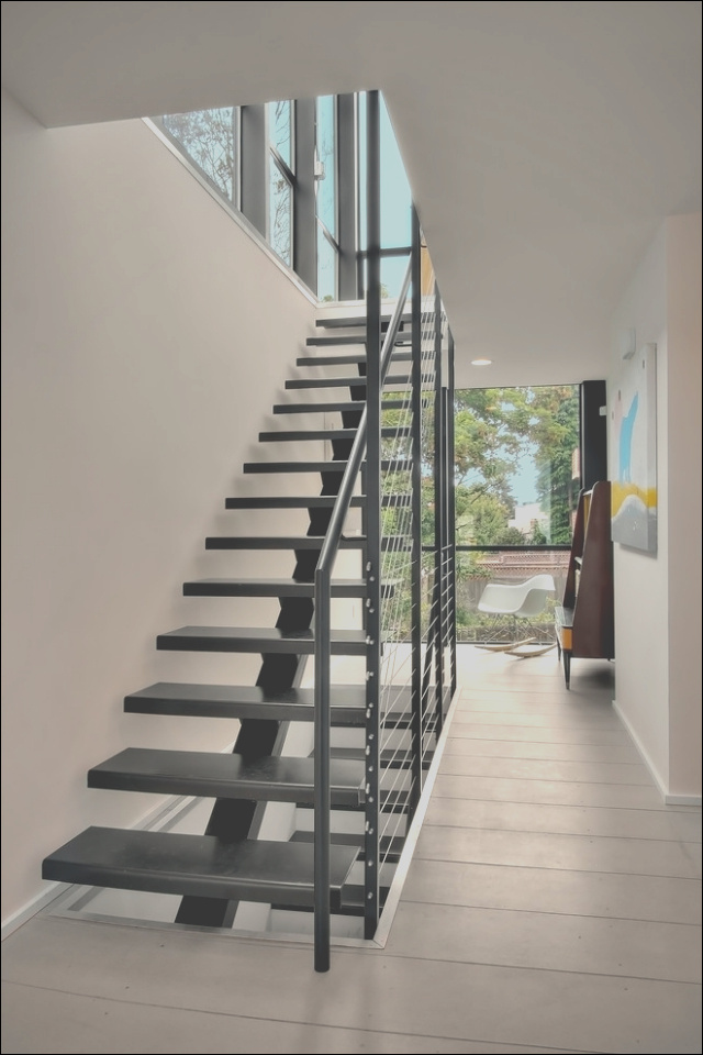 the modern steel staircase inside and outside in the amazing design 3385