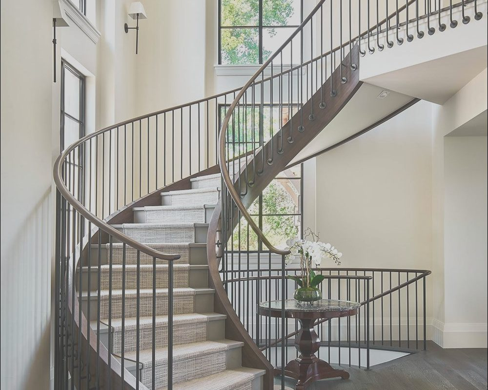 Custom Made Stairs Modern New This Custom Made Curved Staircase is Located Next to the