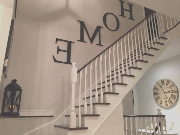 decorating ideas for wall going up stairs