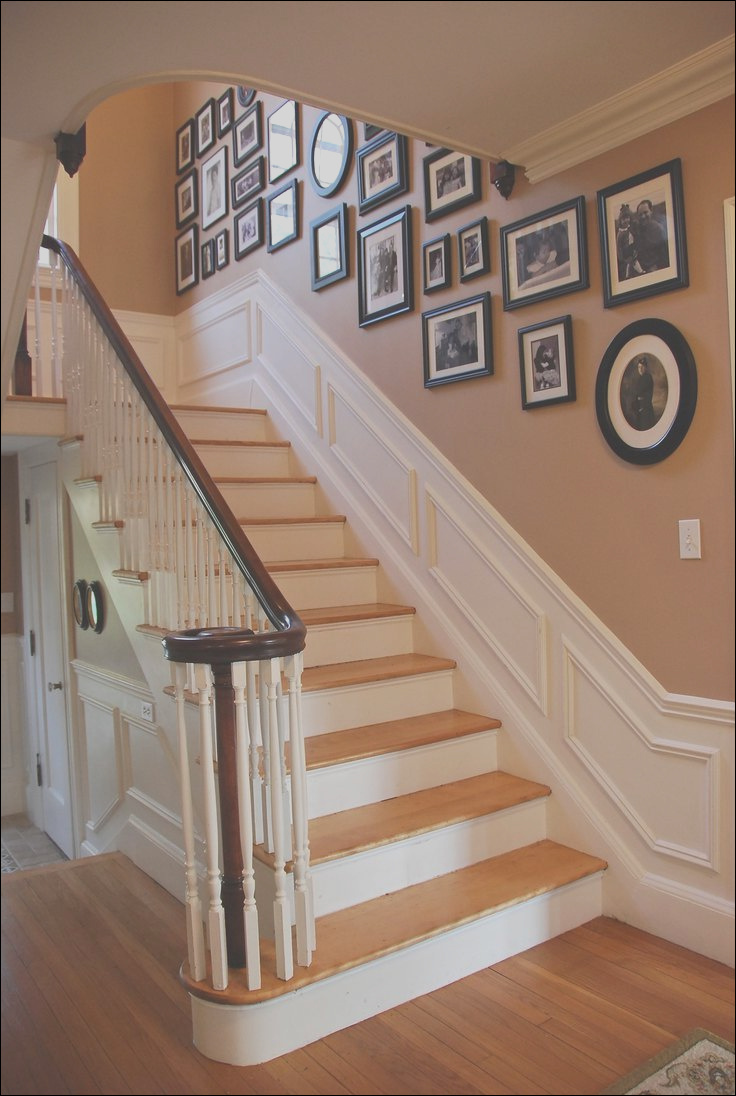 picture wall staircase