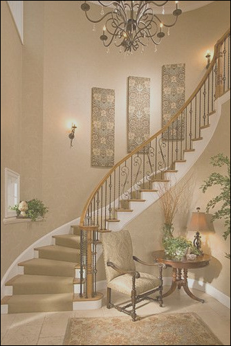 stairway wall decorating