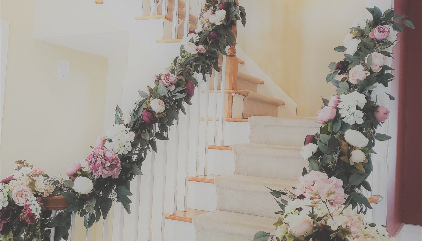Decorate Stairs for Wedding Lovely A Staircase Decorated with Beautiful Flowers for Your