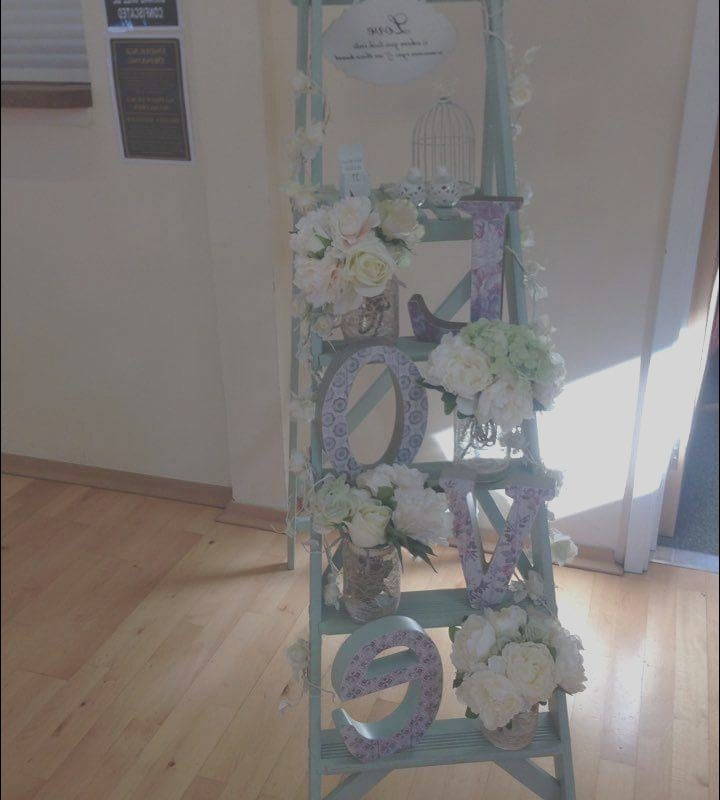 Decorating Ladders for Stairs Hire Inspirational Ladder Of Love Green Vintage Wooden Ladder Wedding
