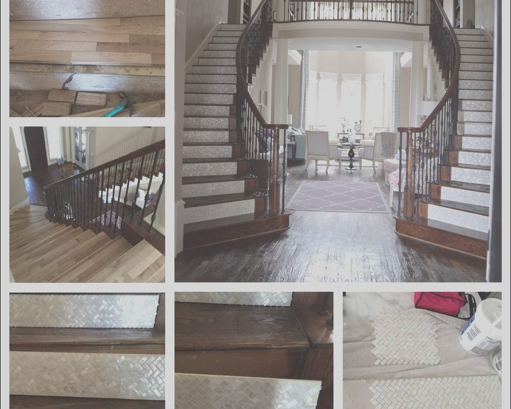 Decorating Stairs On A Budget Awesome Mother Pearl Staircase
