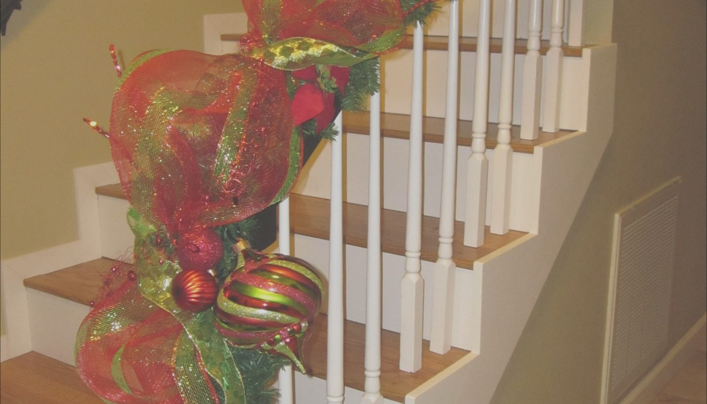 Decorating Stairs with Mesh Ribbon Luxury Trees Decorated Deco Mesh Garland