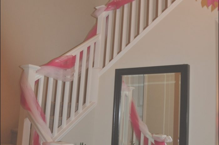 14 ordinary Decorating Stairs with Tulle Photos
