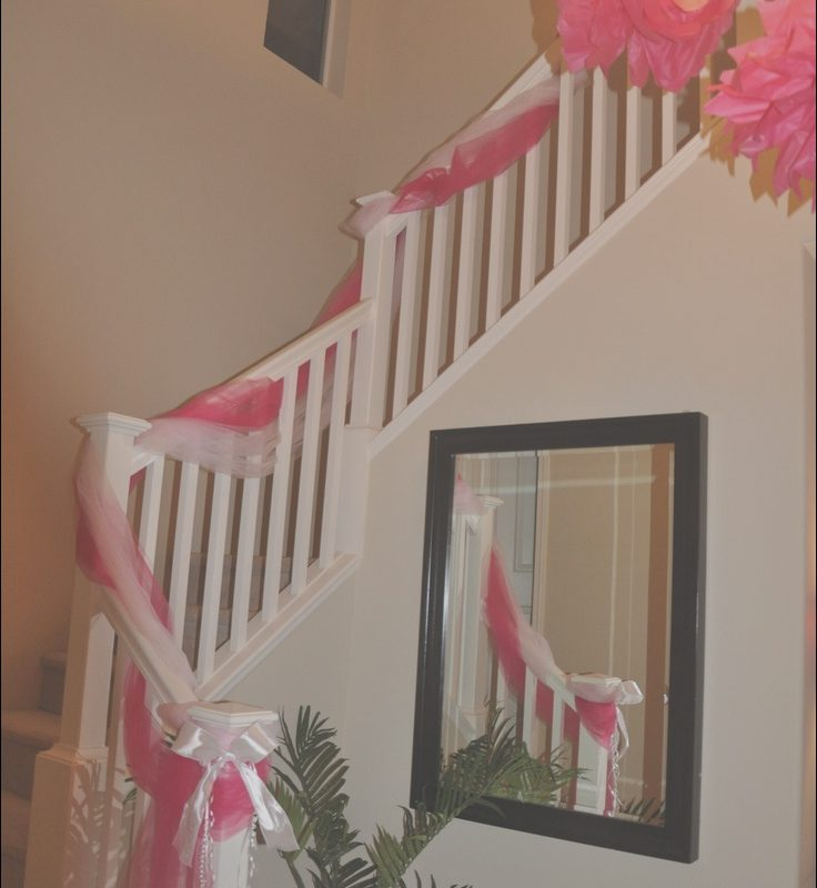 Decorating Stairs with Tulle Inspirational Tulle Decorated Staircase Stephanie Crowley Uh Oh