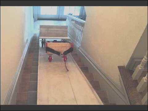 moving furniture up stairs