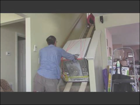 how to move heavy furniture down stairs