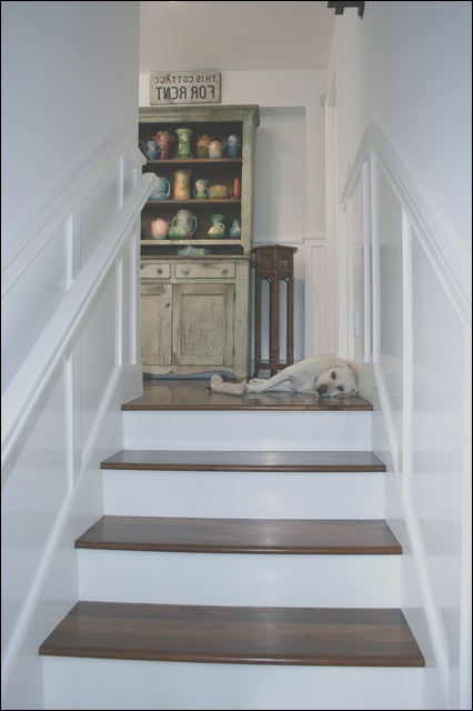 hallways and landings traditional staircase los angeles