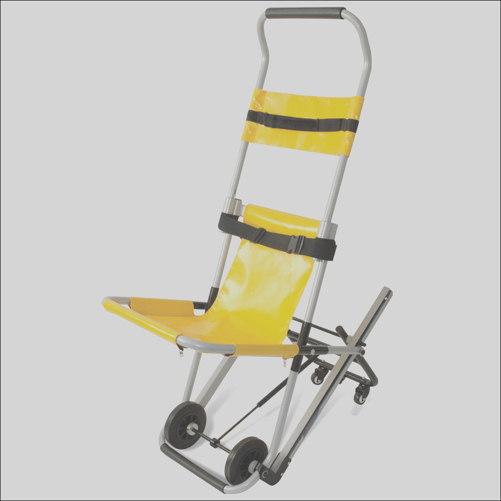 evacuation chair with bracket and cover