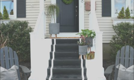 Front Porch Stairs Ideas Inspirational Front Porch Spring Reveal with Painted Steps Nesting