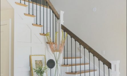 Furniture In Front Of Stairs Luxury Interior Design Ideas Modern Rustic Chic Foyer