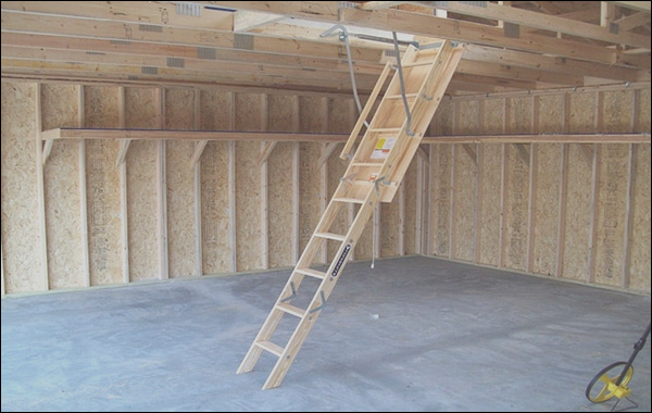 attic access pull stairs