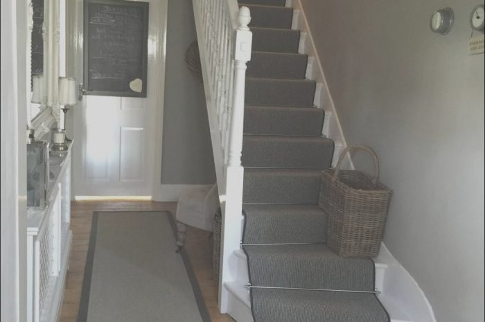 16 Marvelous Grey Hall Stairs and Landing Decorating Ideas Image