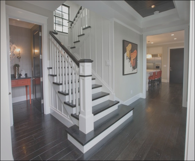entry hall stairs and powder bath traditional staircase orange county