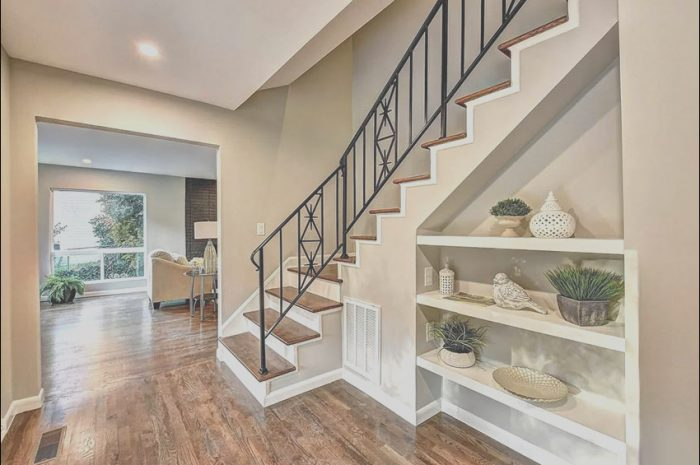 11 Liveable Home Decor Under Stairs Stock