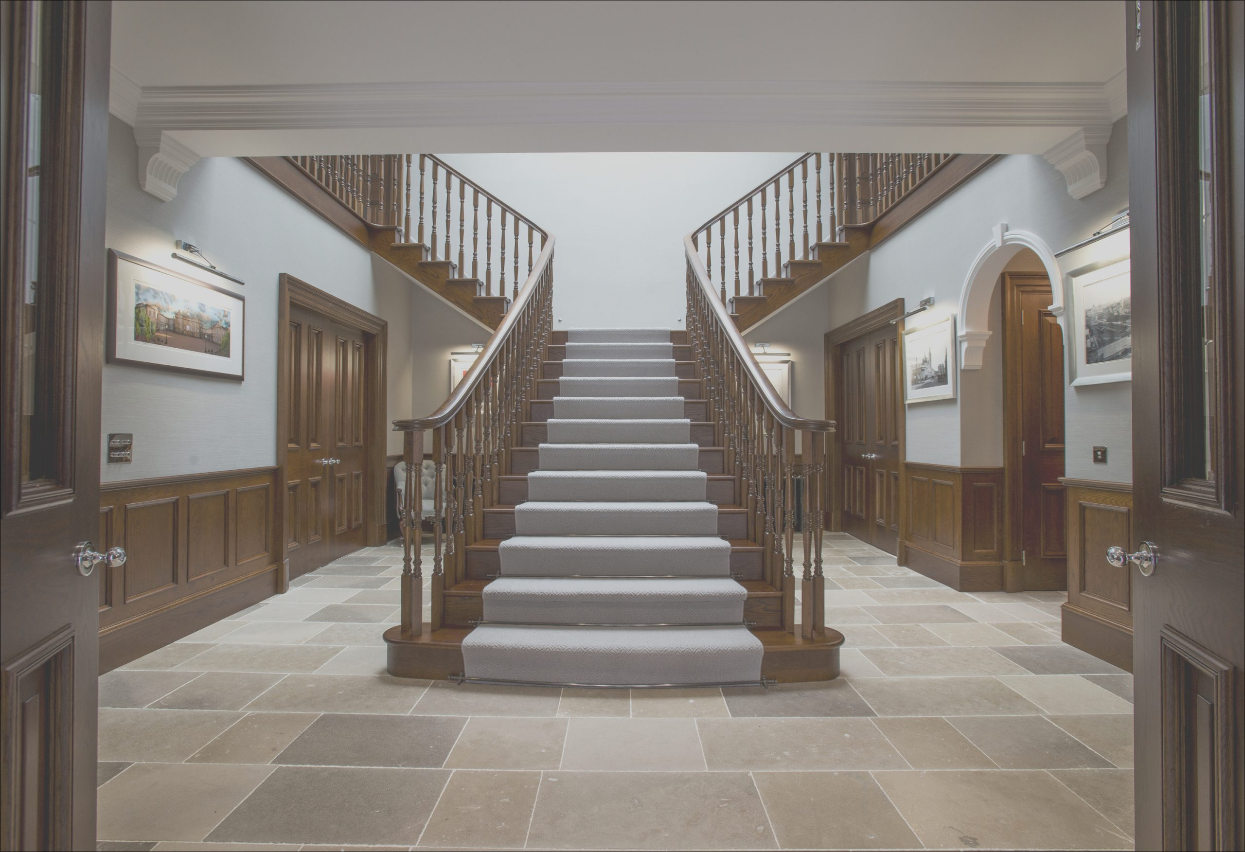 feature timber staircase luxury scottish home