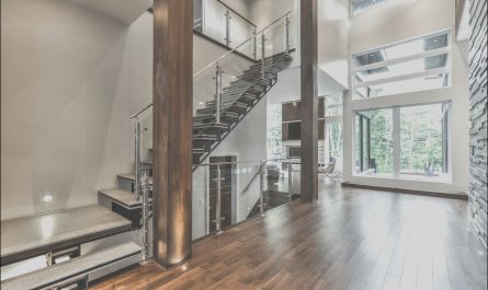 Interior Stairs Montreal Elegant Contemporain Chic Contemporary Staircase Montreal