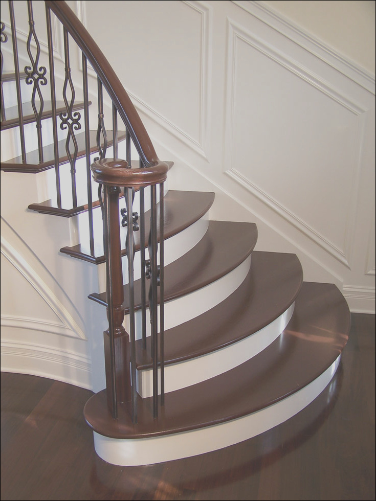 wooden stairs for interior and exterior