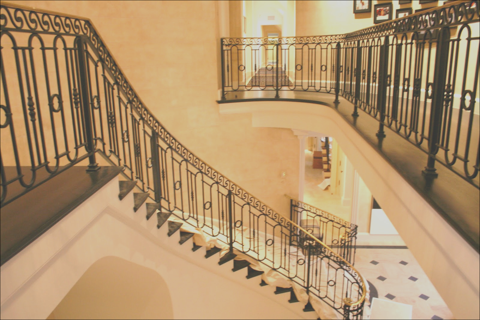 wrought iron stair