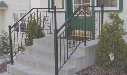Iron Stairs Design Outdoor Lovely Iron Step Railing with 2 Inch Square End Posts and Square