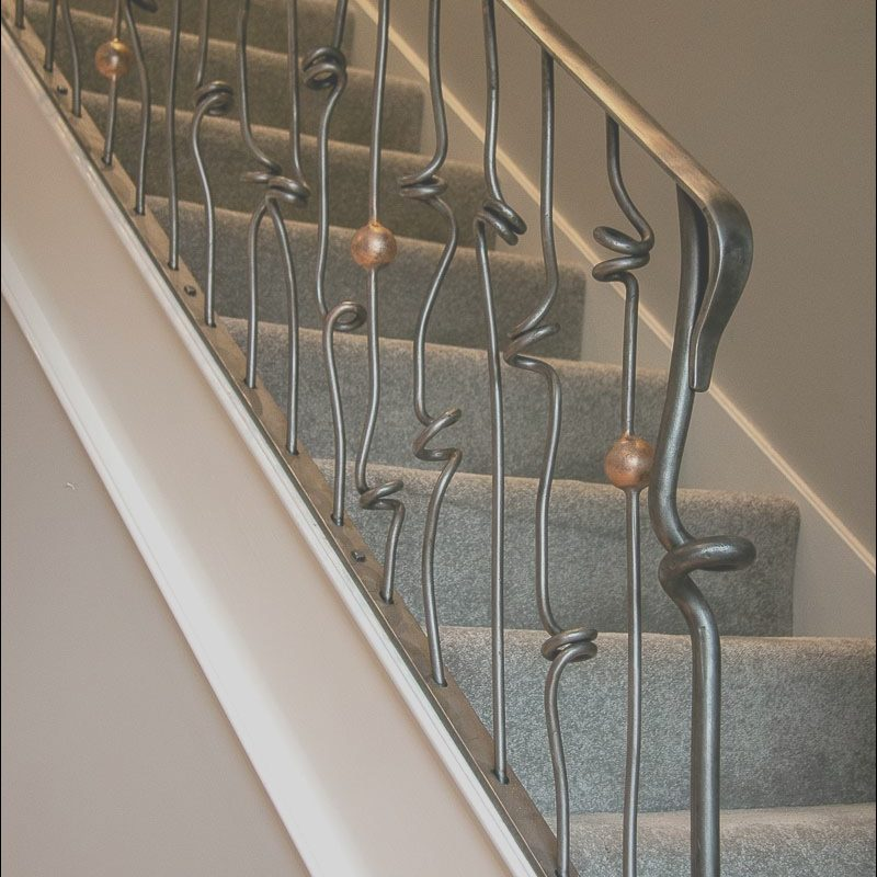 Metal Spindles for Interior Stairs Uk Awesome Knotted Steel Stair Spindles