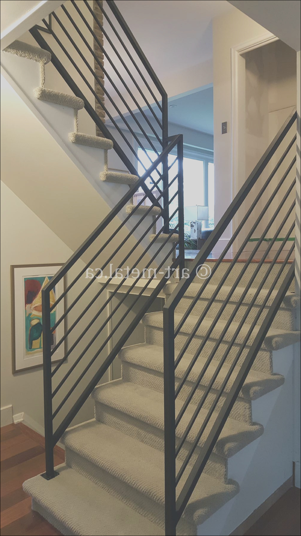 wrought iron railings for stairs interior